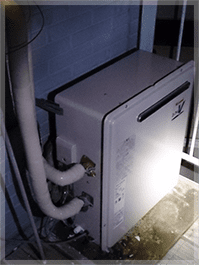 根岸で浴槽隣接設置型給湯器の交換
