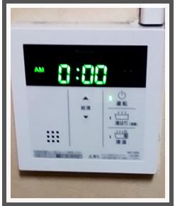 横浜市南区の施工実績②-交換後のキッチンリモコン